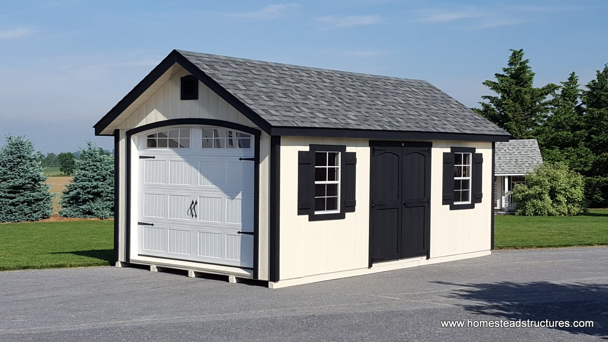 1 car single wide garages homestead structures for How wide is a single car garage