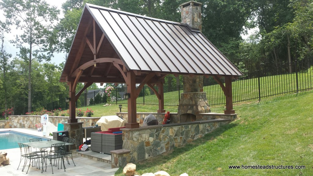 Wooden Pavilions, Timber Frame Pavilions | Homestead Structures