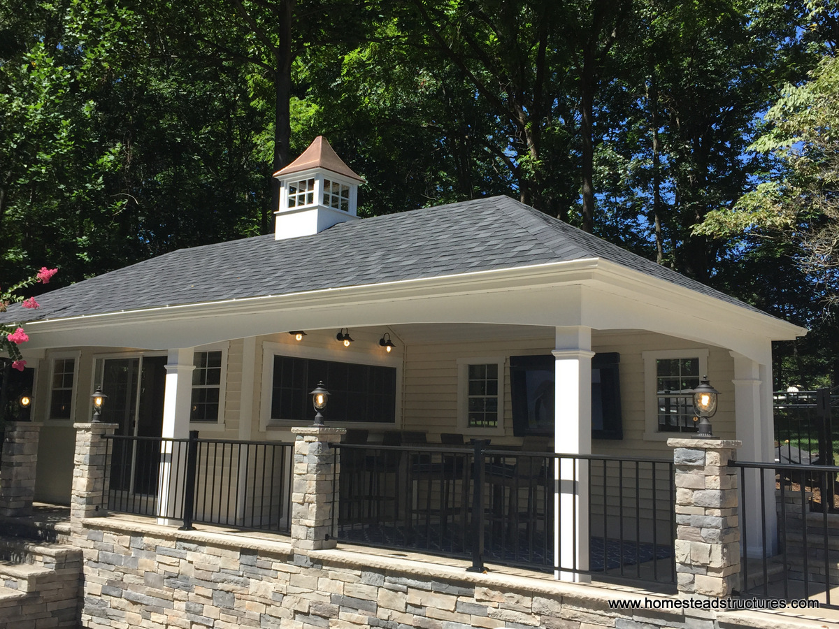 Avalon pool house homestead structures for House plans built around pool