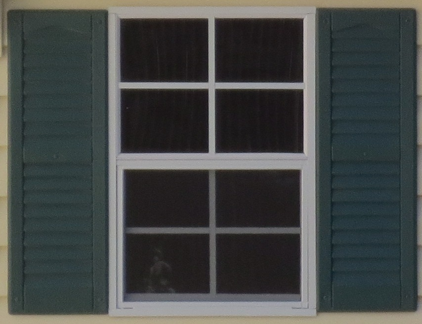 """18"""" x 27"""" Standard Window (shown with louvered shutters)"""