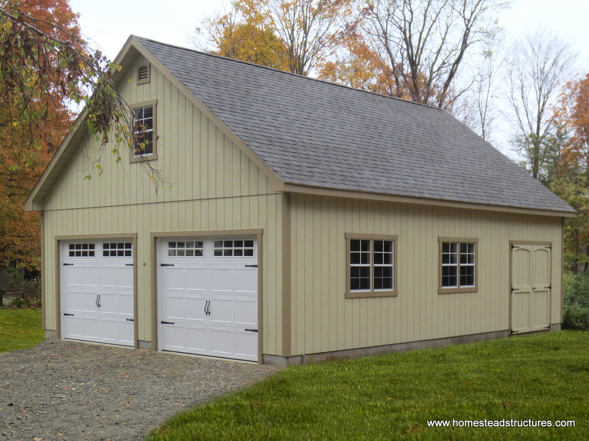 2 car garage homestead structures for Double story garage