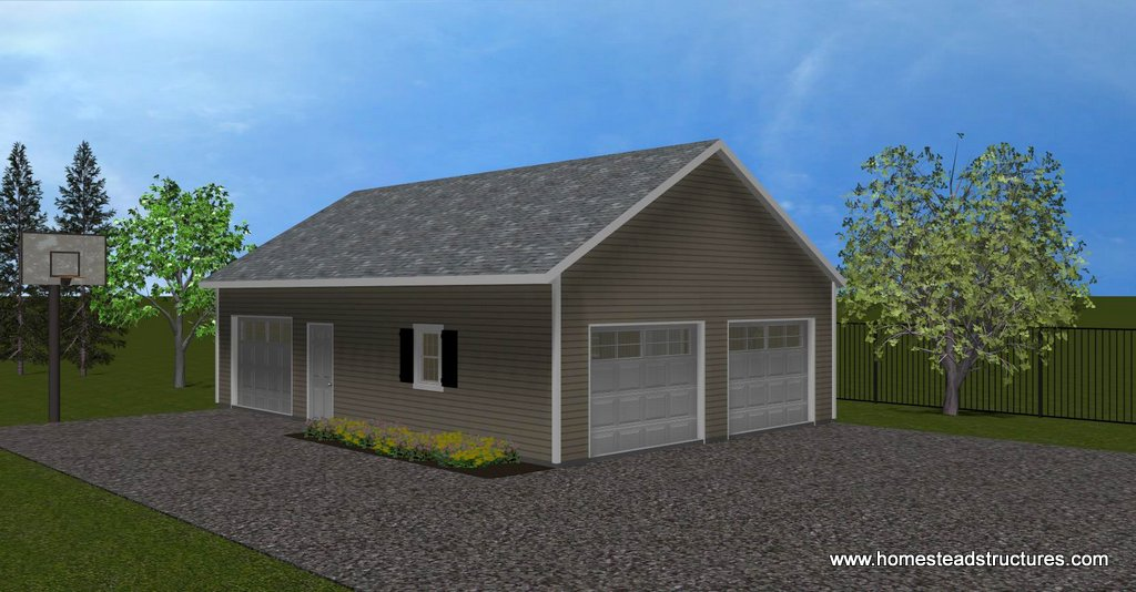 3d drawing rendering services architectural for 24x36 garage