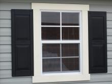 """24"""" x 36"""" Standard Window (shown with Raised Panel shutters)"""