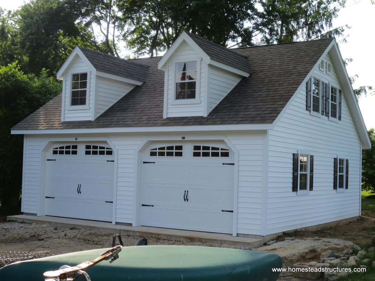 2 car garage homestead structures for Two story two car garage