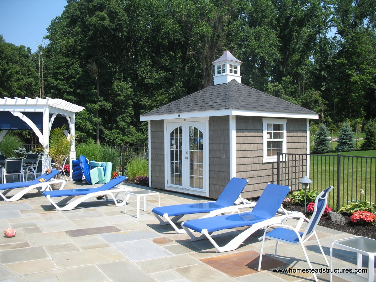 Pool Shed Ideas Amp Designs Pool Storage In Pa Homestead