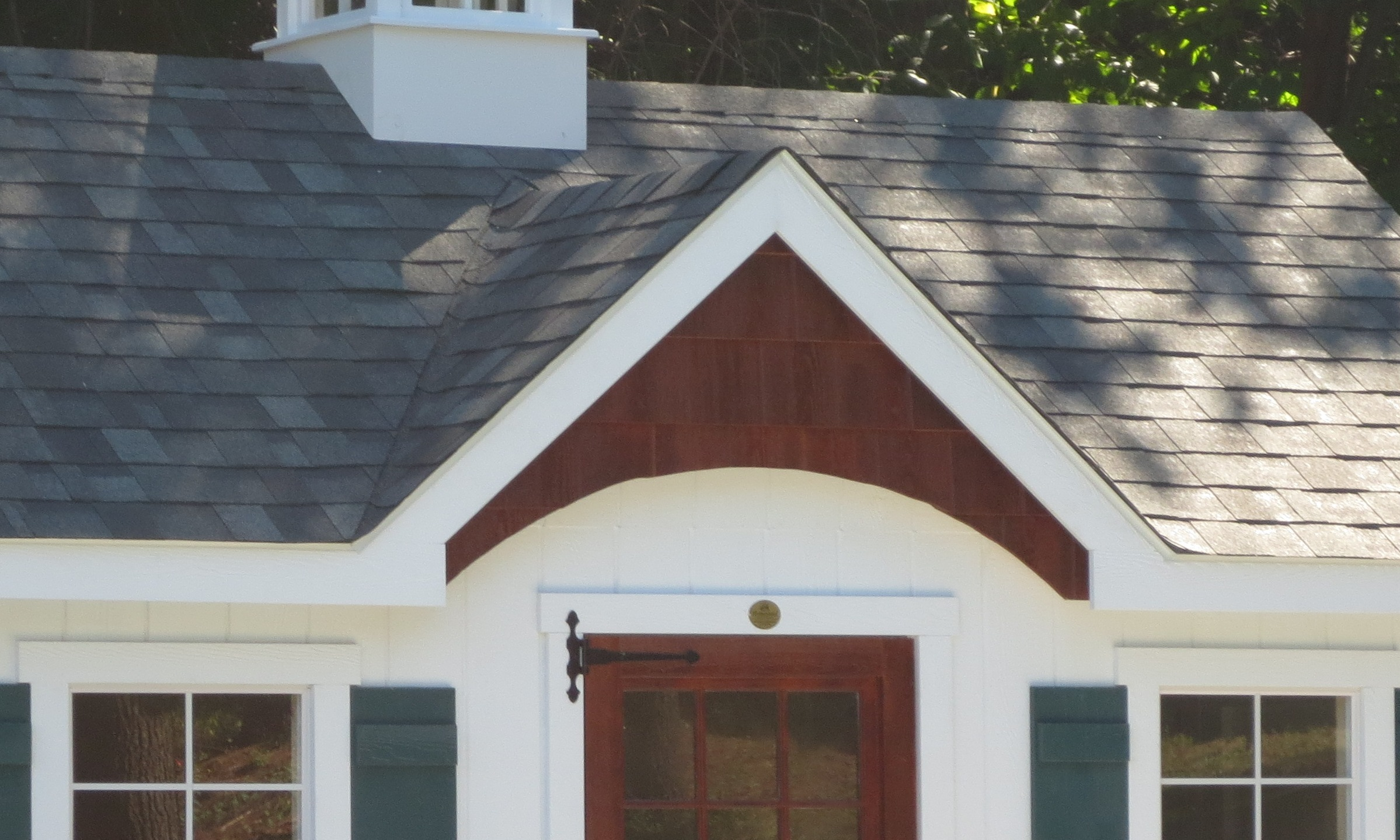 A-Frame Dormer with Arched Shake Front