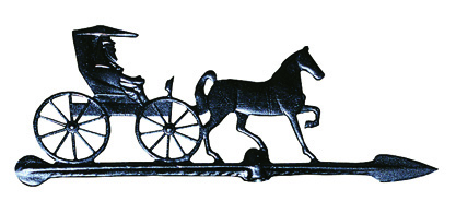 Black Horse & Buggy Weathervane