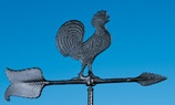 Black Rooster Weathervane