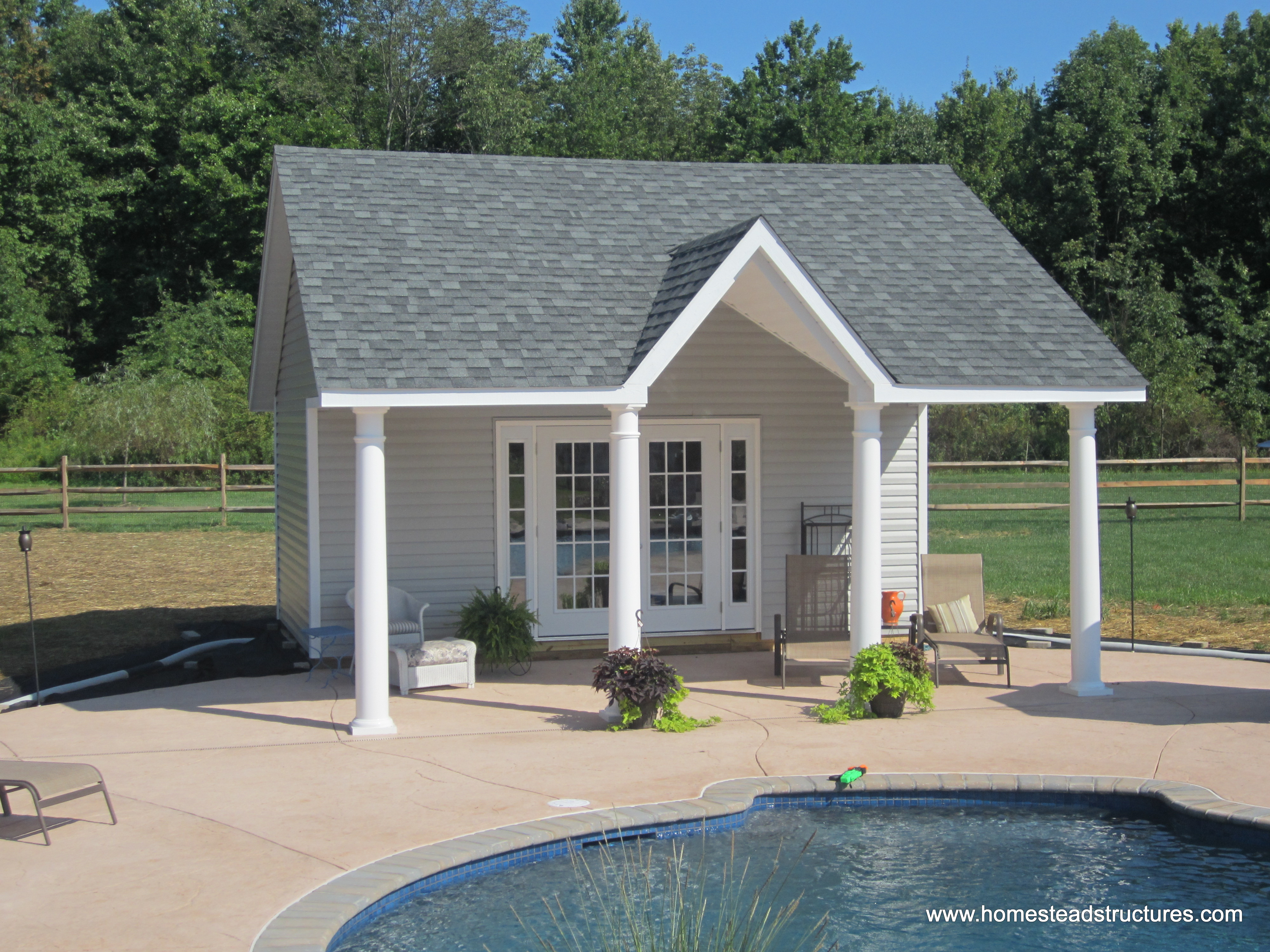 Custom pool house plans ideas pool cabanas in new for Custom pool house