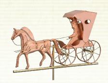 Copper Horse & Buggy Weathervane