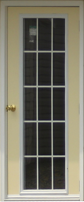 House Door with 15 Lite