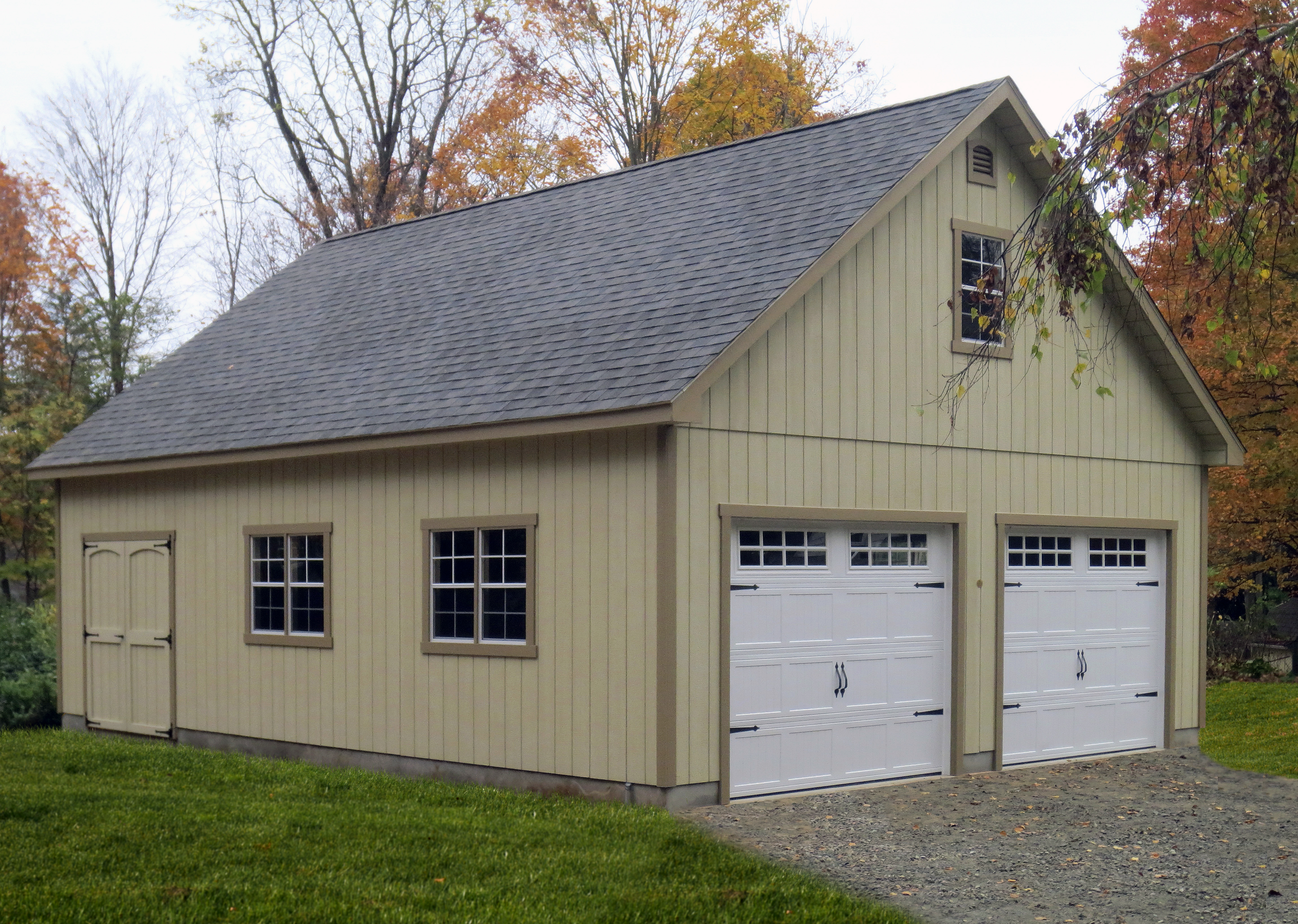Garage designs prices 1 car 2 car and 3 car garages for Two story garage prices
