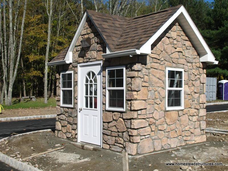 8 X 12 Classic Victorian Shed Stone Veneer