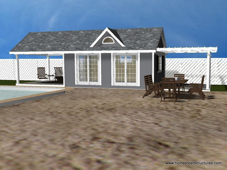 Shed pool house plans lawn shed plans for Pool house shed plans