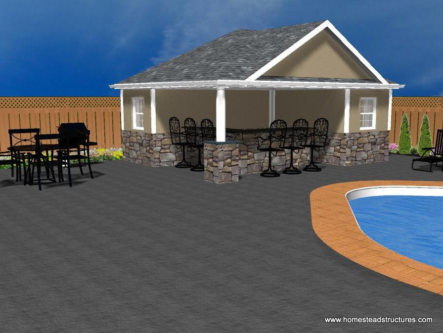 Pool house designs homestead structures for Wellington house designs