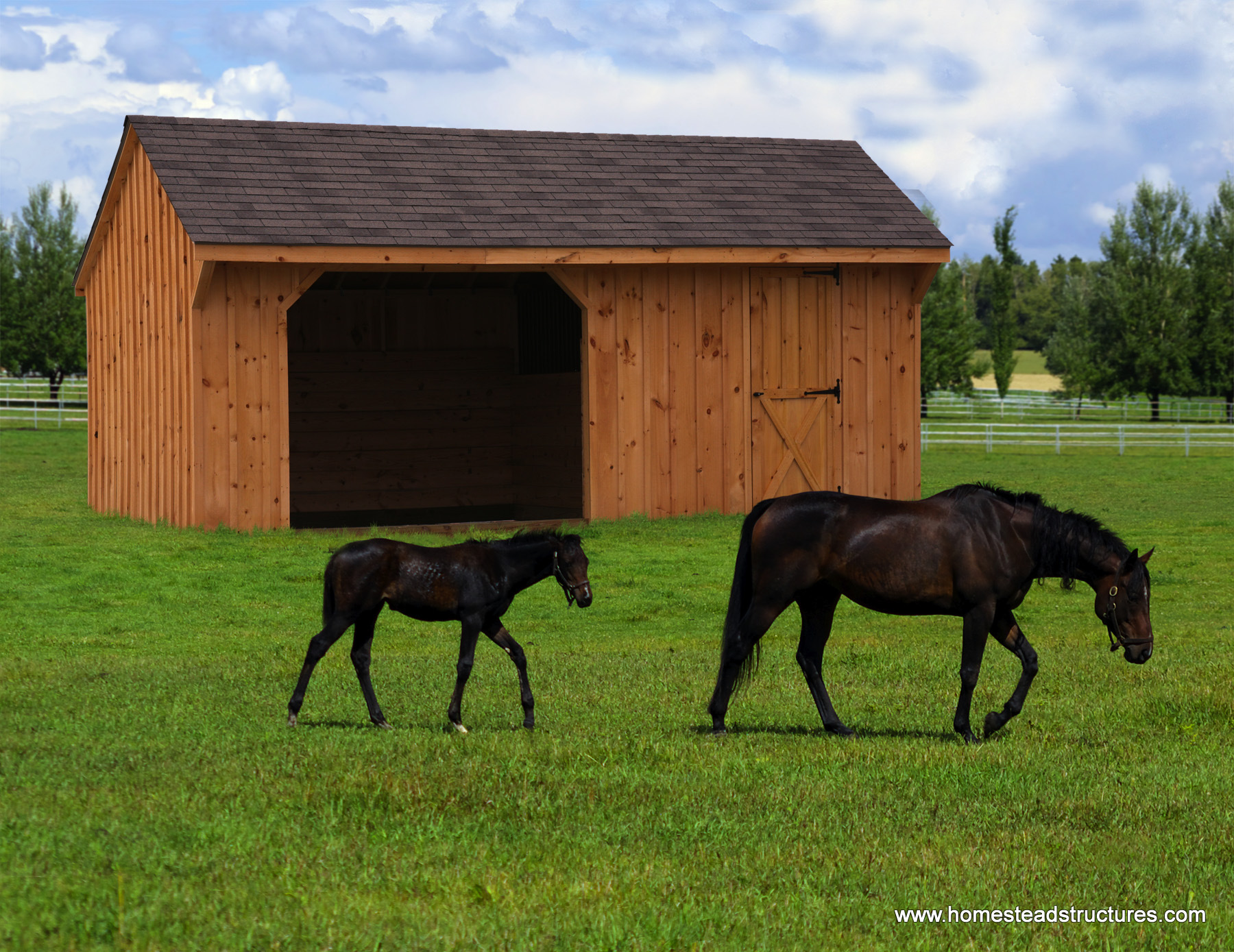 Horse Barns Homestead Structures