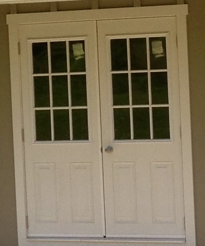 5' Double House Door with 9 Lite Windows