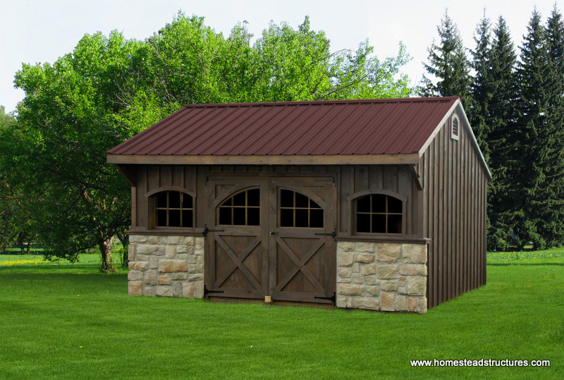 12 39 x 16 39 carriage house shed pine board batten siding for Quaker barn home designs