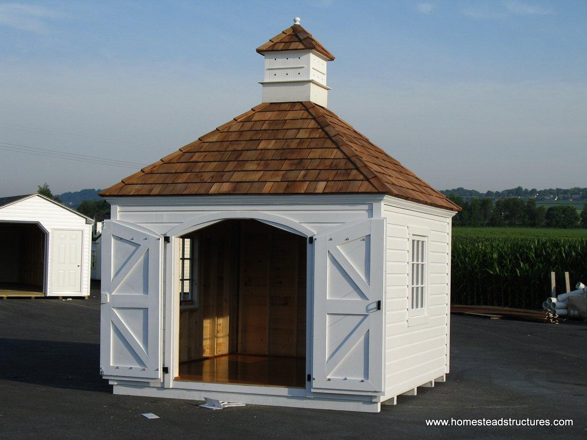 x gazebos barns cottage order custom bayhorse vinyl sheds shed