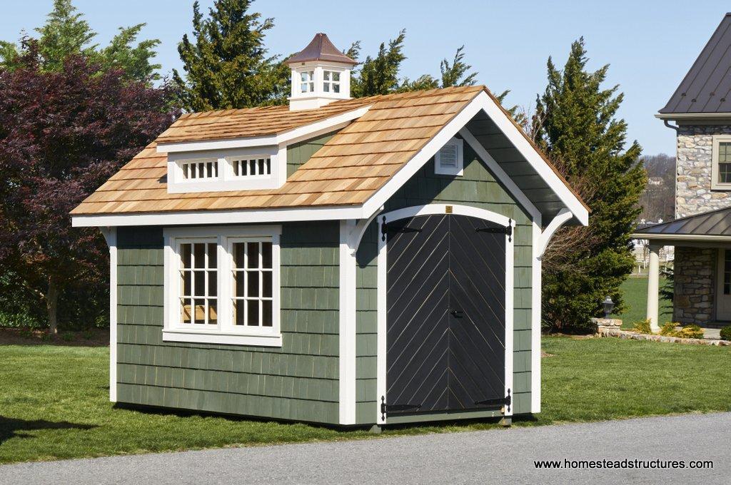 8 x 12 premier garden shed with transom windows
