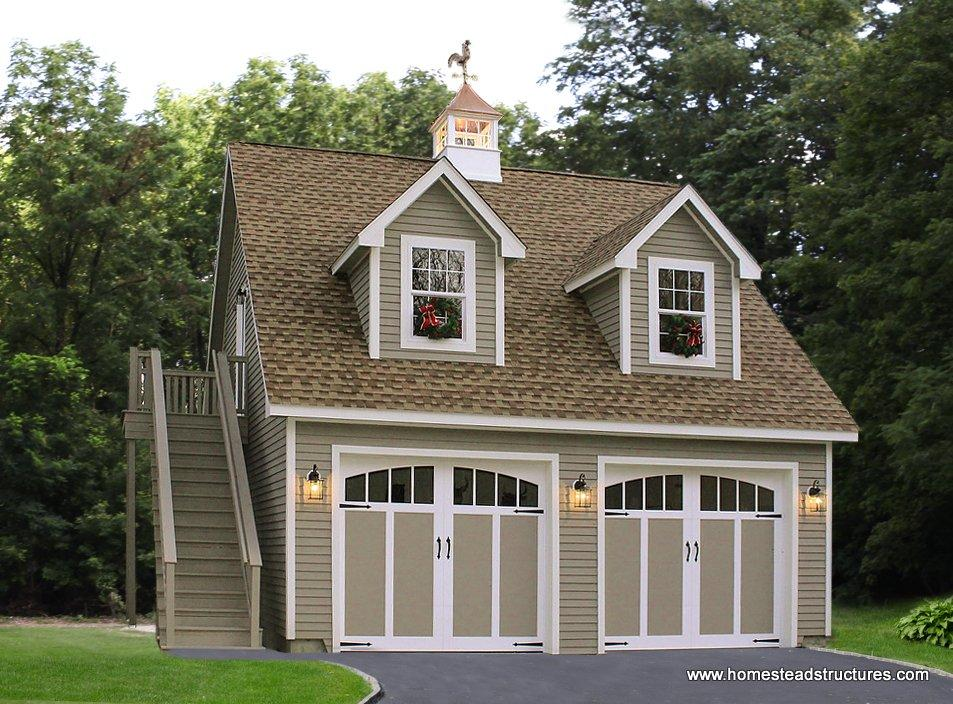 2 Car Garages | Photos | Homestead Structures