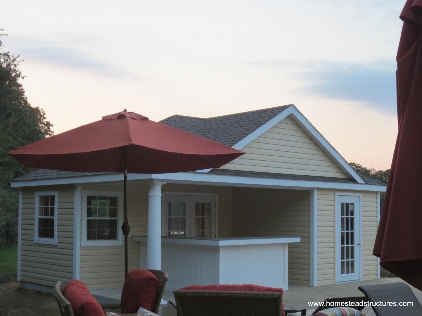 Wellington Pool House Exterior Shots Homestead Structures