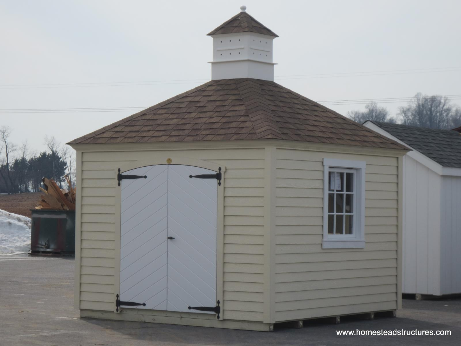 10 x 10 laurel garden shed with hip roof wood lap