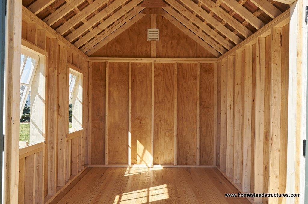8x12 premiere garden shed interior