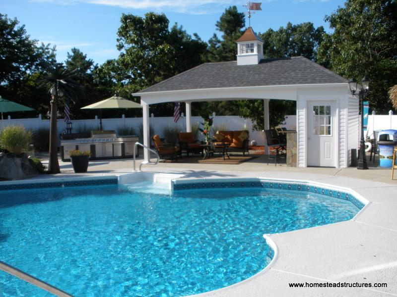 Avalon Pool House - Exterior Shots | Homestead Structures