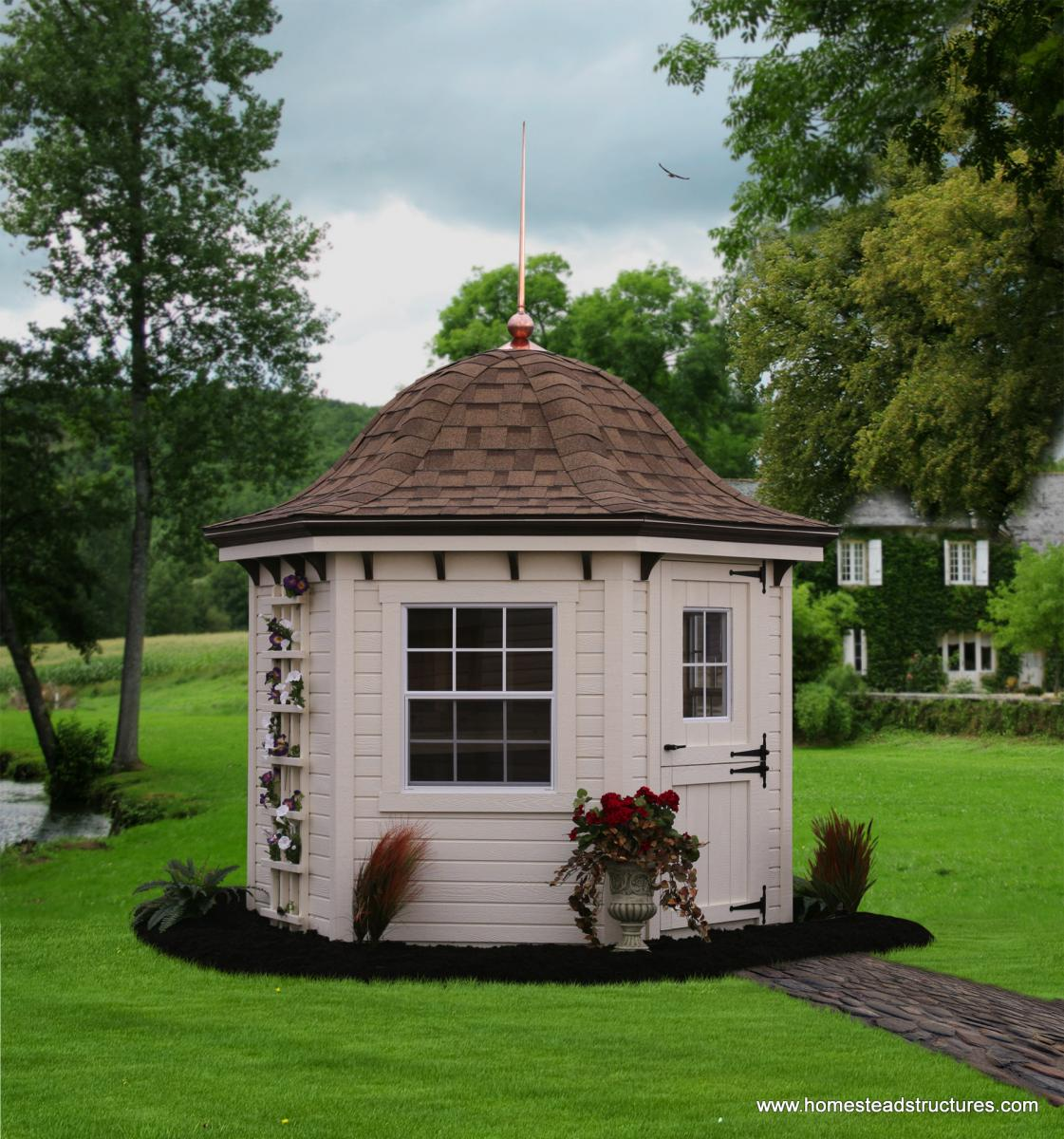 Homestead Gardens Landscaping: Garden Belles - Hexagonal Sheds