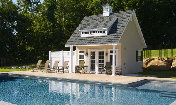 17' x 14' Heritage Pool House (stucco siding)
