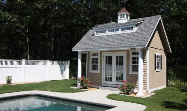 15' x 14' Heritage Pool House (D-temp Siding)