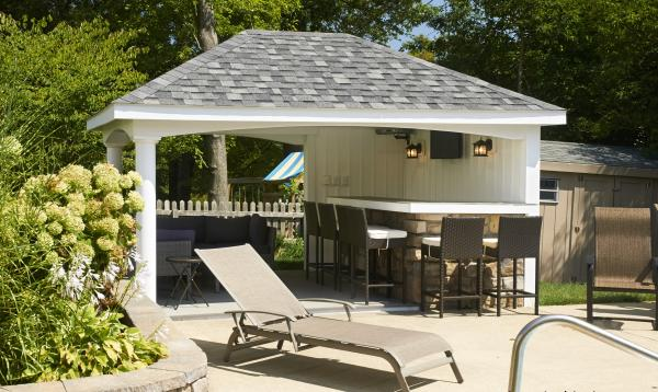 10 x 14 Avalon Pool House (vinyl siding)