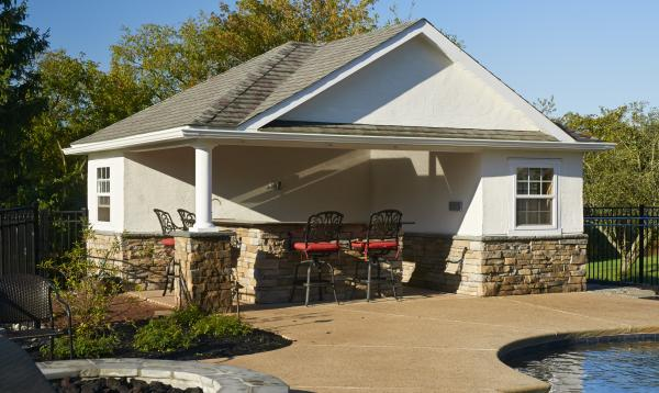 16' x 20' Wellington Poolhouse (Stucco & Stone Veneer)
