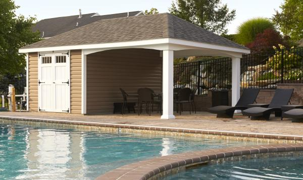 12' x 22' Avalon Poolhouse (vinyl siding)