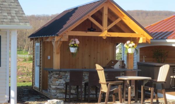 10' x 12' Timberframe Siesta Poolside Bar