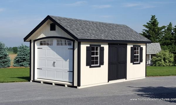 10' x 20' Classic Garage with A Frame & Druatemp Siding