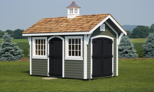A Frame Garden Shed with Cupola
