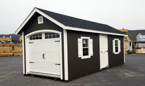 10 x 24 Classic 1-Car Garage with D-Temp Siding