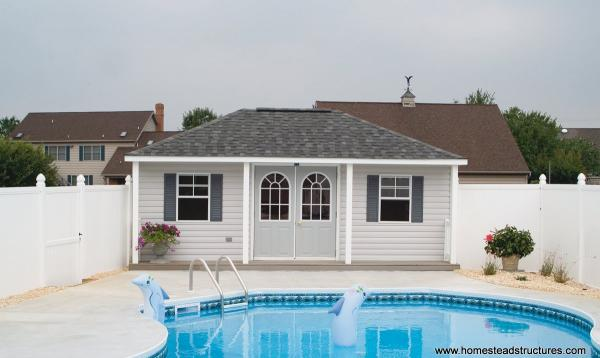 12' x 20' Keystone Hip Roof with Porch
