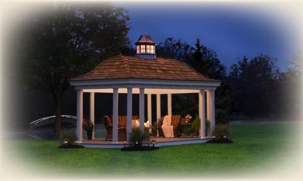 12' x 20' Pavilion with cedar roof