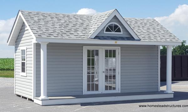 12' x 18' Heritage Classic Pool House with 7' Windsor Dormer