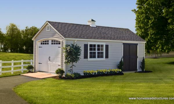 12' x 24' Laurel Series A-Frame Garage (Vinyl Siding)