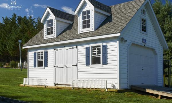 14' x 20' Liberty A-Frame Shed with dormers