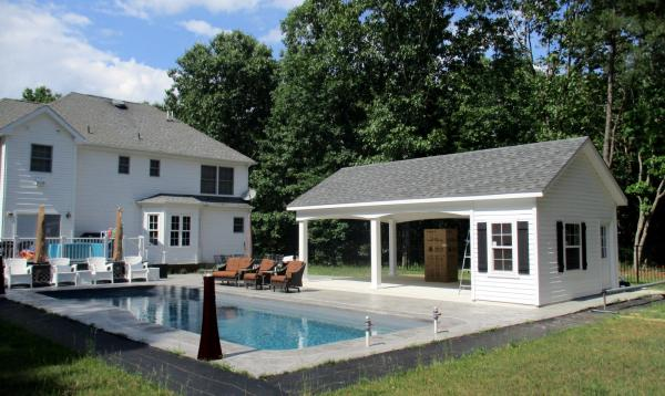 16' x 28' Avalon Pool House in Franklinville, NJ