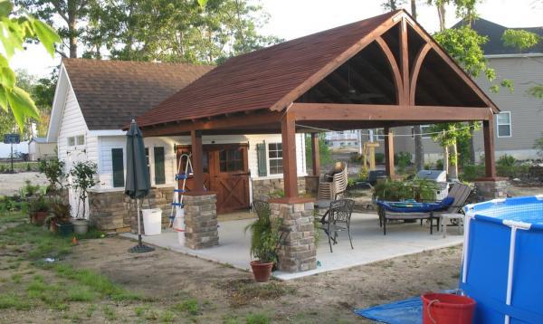 18' x 18' Wooden Pavilion