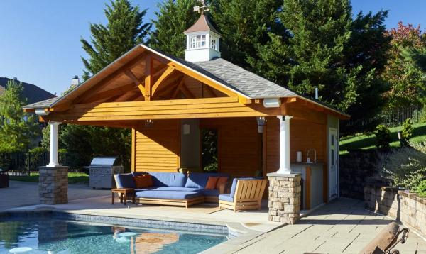 Timber Frame Avalon Pool House 18x22