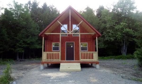 18' x 36' Liberty A Frame Cabin - front
