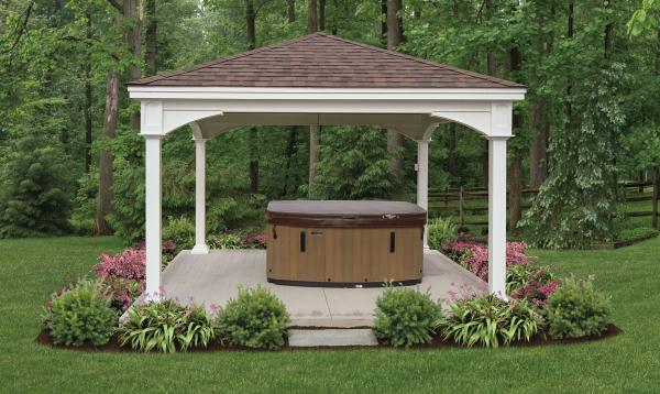 14' x 14' Manchester Pavilion with Hot tub