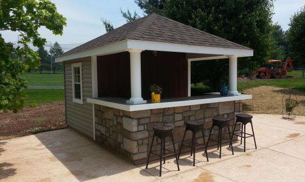 10' x 14' Siesta Poolside Bar (vinyl siding)